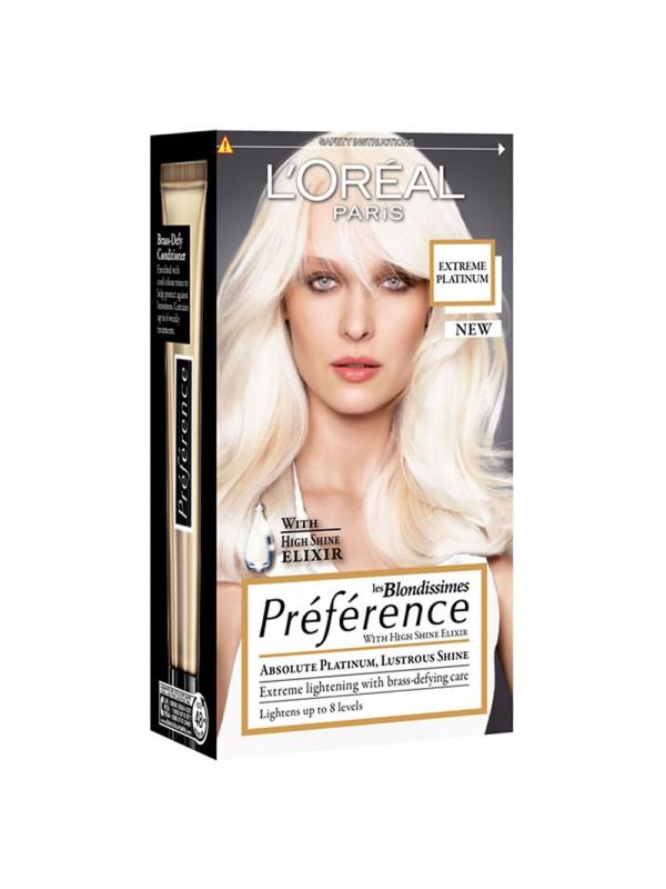 Préférence Haarverf extreme platinum blond